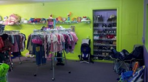 interior of kids clothes store